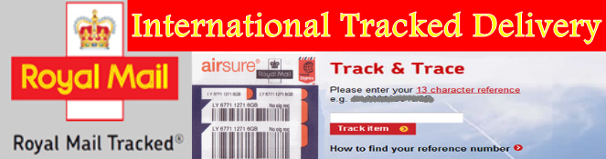 International Tracked Delivery optional extra recommended
